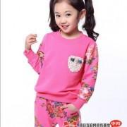 童装儿童运动套装春秋款 女童2014新款韩版小孩衣服一件代发