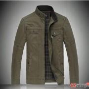 韩版新款秋装纯色休闲立领男夹克加大码修身男外套潮男胖子衣服