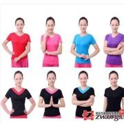 2014正品广场舞服装新款上衣短袖 V领舞蹈服跳舞衣服拉丁舞