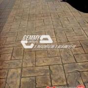 JQ混凝土压模地面 压花地坪施工方法指导材料低价直销