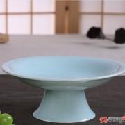 高脚水果盘点心蛋糕盘 青瓷展示盘干果碟供佛托盘  酒店陶瓷餐