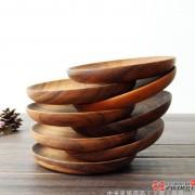 相思木整木圆形碟子蛋糕点心盘子水果干果木质碟子 小碟子