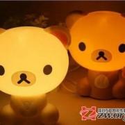 可爱轻松熊卡通小台灯家居儿童卧室床头灯 创意台灯小夜灯银行