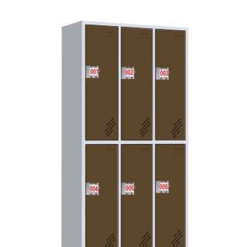 FZ-W084六门插卡锁更衣柜-喀什办公家具,喀什方正办公家具