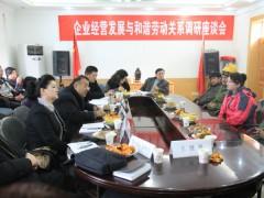 企业经营发展与和谐劳动关系调研座谈会