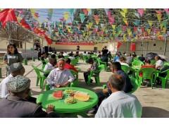 共同庆祝祖国生日 商会农户爱心相联—伯乡18村文化广场交付仪式暨民族团结一家亲活动